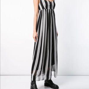 Marc Jacobs Striped MIDI Dress 100% Silk